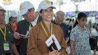 Cô Phạm Thị Yến chủ nhiệm CLB Cúc Vàng, trưởng đoàn chuyến đi du lịch Đài Loan