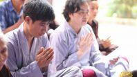 Phật tử Phạm Thị Yến chia sẻ Pháp tại đạo tràng Chính Niệm