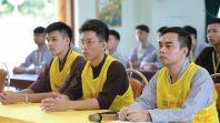 Phật tử Phạm Thị Yến chia sẻ với CLB Tuệ Tâm tại chùa Ba Vàng