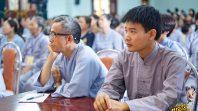 Phật tử Phạm Thị Yến chia sẻ Pháp với đạo tràng Minh Long