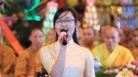 Phật tử CLB Cúc Vàng làm phận sự trong ngày lễ giỗ tổ tại chùa Ba Vàng, Uông Bí, Quảng Ninh