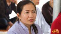 Cô Phạm Thị Yến chia sẻ Pháp tại chùa Diên Phúc tỉnh Nghệ An