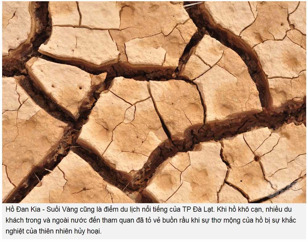 Hồ Đan Kia - Suối Vàng cũng là điểm du lịch nổi tiếng của TP Đà Lạt. Khi hồ khô cạn, nhiều du khách trong và ngoài nước đến tham quan đã tỏ vẻ buồn rầu khi sự thơ mộng của hồ bị sự khắc nghiệt của thiên nhiên hủy hoại. Theo báo Nông Nghiệp Việt Nam đăng ngày 5/3/2020