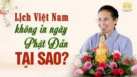 Tại sao lịch Việt Nam không in ngày Phật Đản?