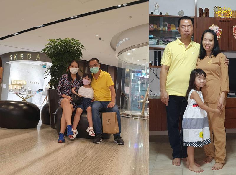 Bạn Nguyễn Thị Trà Linh cùng chồng và con gái hiện đang sinh sống và làm việc tại Singapore