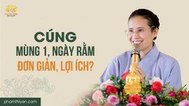 Cúng lễ tuần rằm, mùng một theo lời Phật dạy