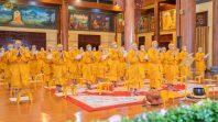 Chư tôn đức Tăng trang nghiêm trong lễ tụng kinh tưởng niệm, truy tiến giác linh của Đức Đệ tam Pháp chủ GHPGVN Hòa thượng Thích Phổ Tuệ cao đăng Phật quốc.