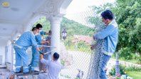 Phật tử làm hàng rào chắn